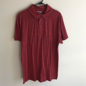 💜 Old Navy Men's Red Polo Shirt XL